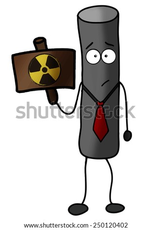 radioactive particle warning vector illustration - stock vector