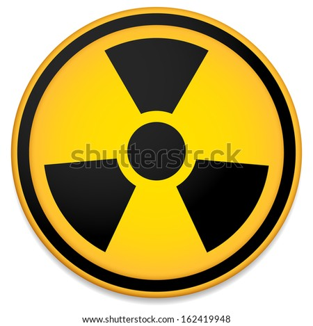 Radioactive Sign Symbol Circle Stylized Transparent Stock Vector