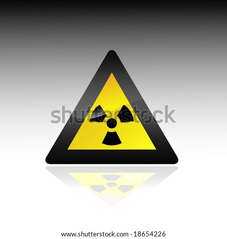 radioactive sign. vector - stock vector