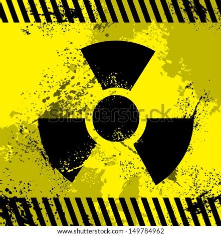 Radioactive Symbol - stock vector