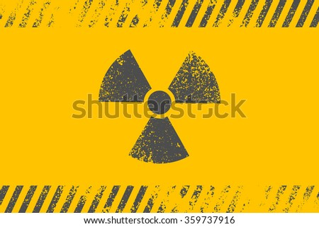 Radioactive symbol. Design element. Vector illustration,eps 10. - stock vector