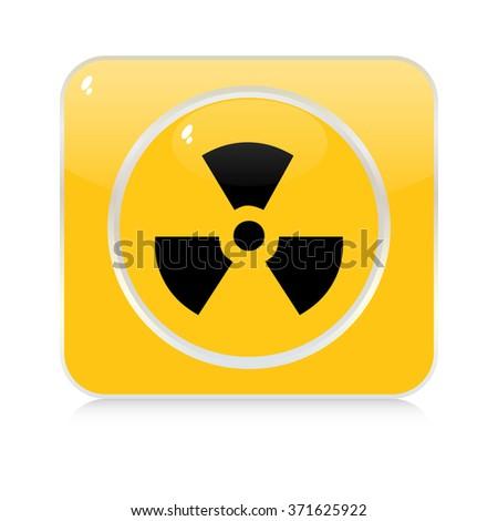 radioactivity button - stock vector