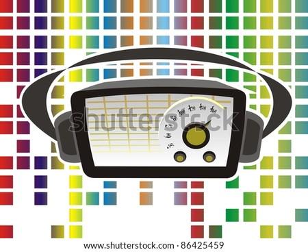 radios colors - stock vector