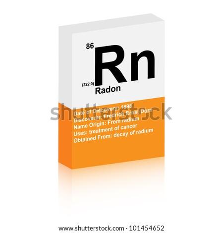 radon symbol - stock vector