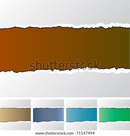 ragged paper - stock vector