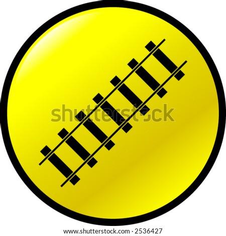 railroad button - stock vector