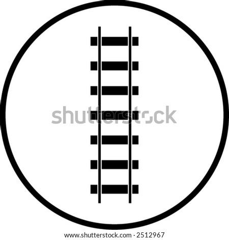 railroad symbol - stock vector