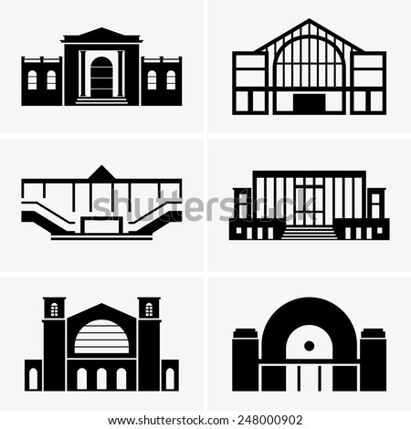 Railway stations - stock vector