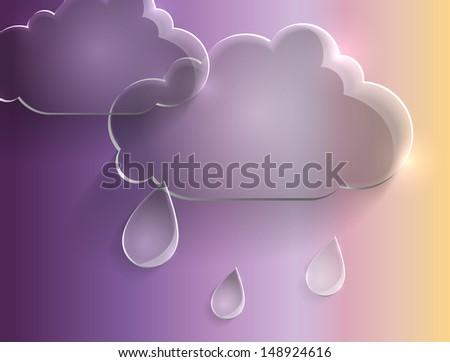 rain, abstraction - stock vector