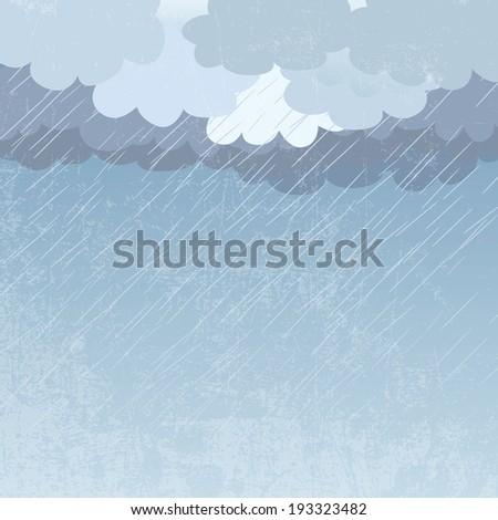 Rain as a background, vector illustration - stock vector