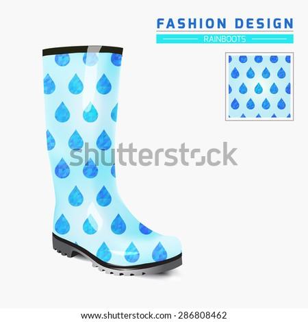 Rain boot trendy design concept fashion stock vector 286808462 rain boot trendy design concept fashion illustration creative rubber boots design template original maxwellsz