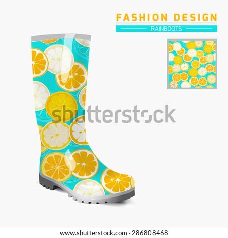 Rain boot trendy design concept fashion stock vector 2018 rain boot trendy design concept fashion illustration creative rubber boots design template original maxwellsz