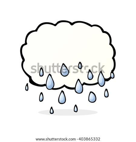 rain cloud cartoon - stock vector