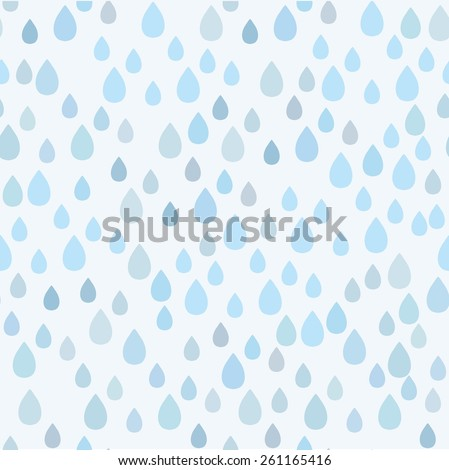 Rain doodles seamless pattern  - stock vector