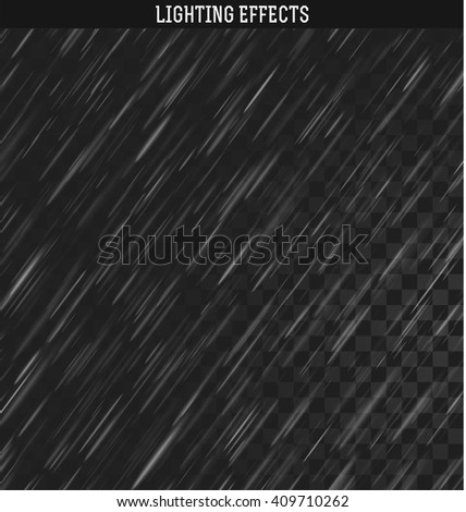 Rain isolated realistic effect can also be used as snow. Natural downpour weather rainfall.