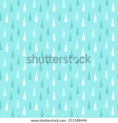 Rain. Seamless vector pattern - stock vector