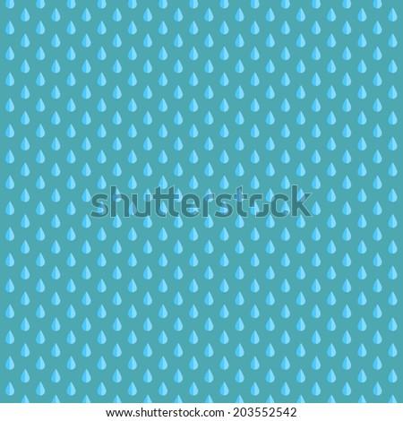 Rain vector flat background - stock vector