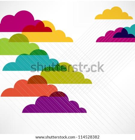 Rain. Vector image - stock vector
