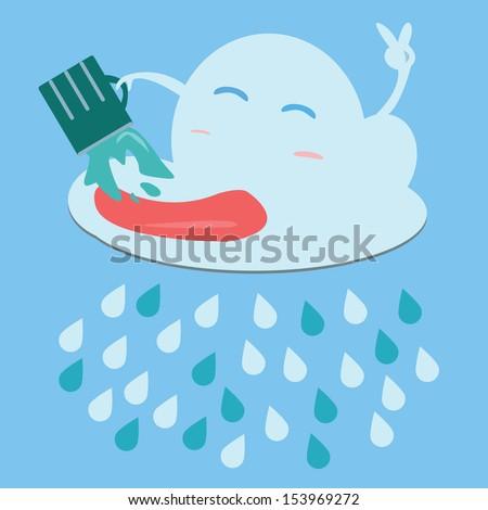 Rain.Vector image - stock vector