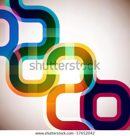 rainbow abstract - stock vector