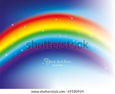 Rainbow background - stock vector