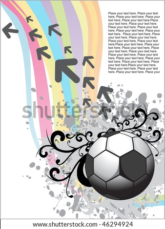 rainbow background and grunge with artistic design ball, arrows and sample text