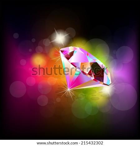 Rainbow background diamond. Vector - stock vector
