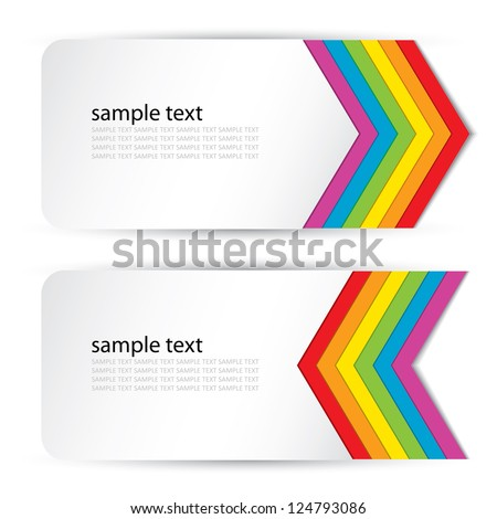 Rainbow banners - vector illustration - stock vector