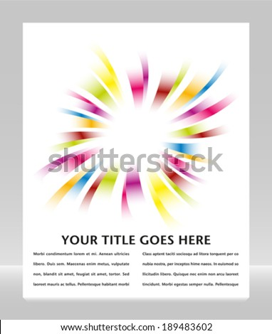 Rainbow burst design with copy space.  - stock vector