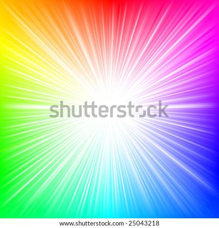 Rainbow burst VECTOR - stock vector