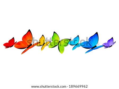 Rainbow butterfly logo - photo#26