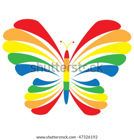 Rainbow butterfly logo - photo#14