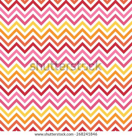 Rainbow Chevron One Pattern