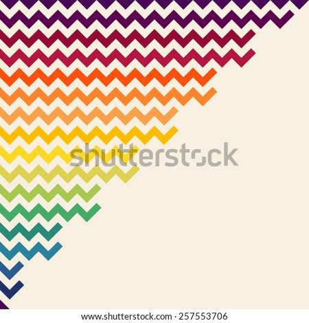 Rainbow chevron vector background. - stock vector