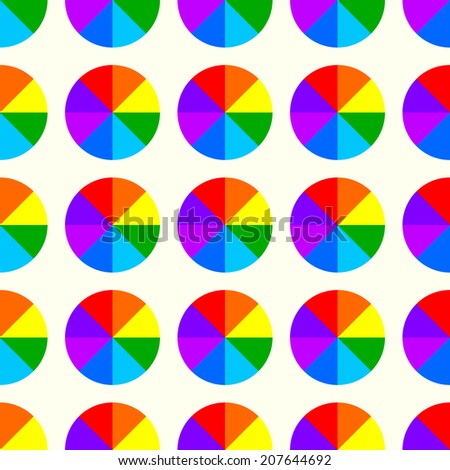 Rainbow circle background. - stock vector