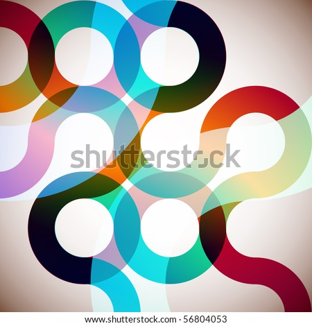 Rainbow Circles. Colorful Abstract Vector Background - stock vector