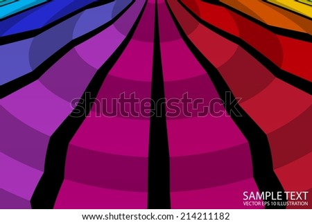 Rainbow circular colorful background illustration - Color checkered abstract background  template - stock vector