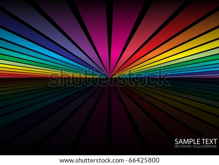 Rainbow color background scene - Vector striped background illustration