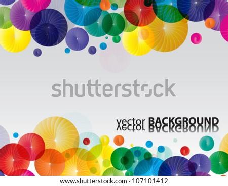 Rainbow color circles, vector - stock vector