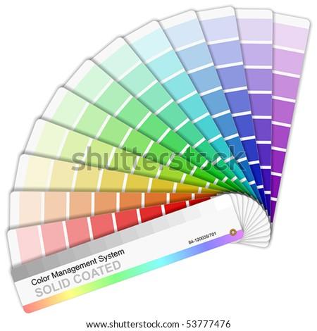 Rainbow color sampler - stock vector
