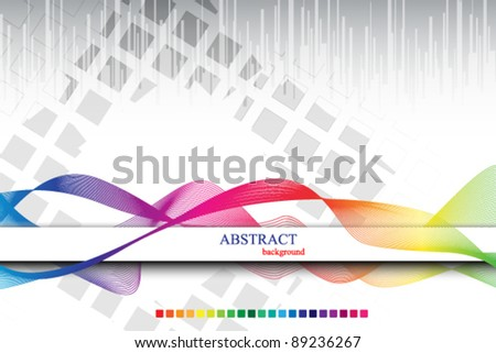 rainbow colored abstract template cover - stock vector