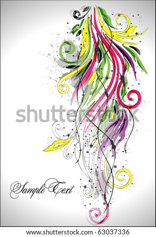 rainbow-colored swirly - stock vector