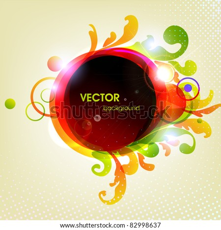rainbow-colored swirly background - stock vector