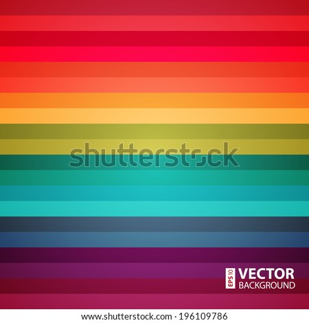 Rainbow colorful stripes abstract background. RGB EPS 10 vector illustration - stock vector