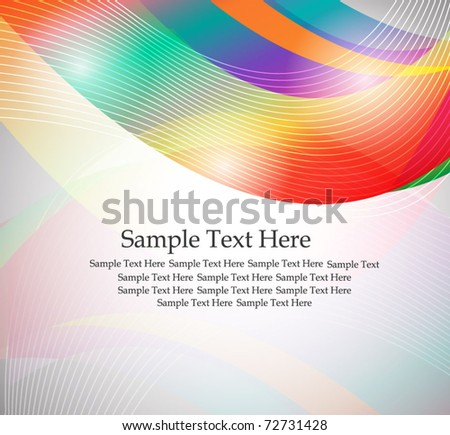 rainbow colors background - stock vector