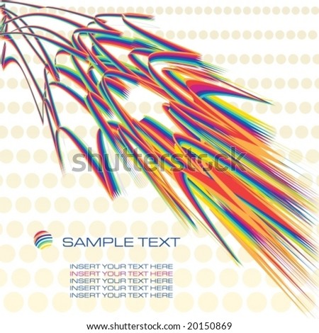 rainbow contemporary design template background, vector illustration