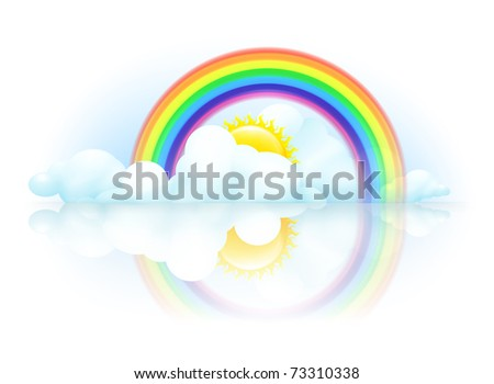 Rainbow, 10eps - stock vector