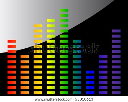 rainbow equalizer - stock vector