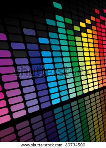 Rainbow equalizer - stock vector