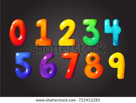 Rainbow Font 123 Jelly Numeral Alphabet Stock Vector 722452285 ...